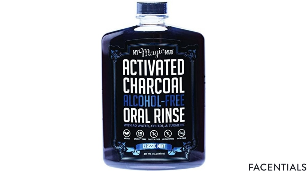 my magic mud activated charcoal oral rinse classic mint front product photo