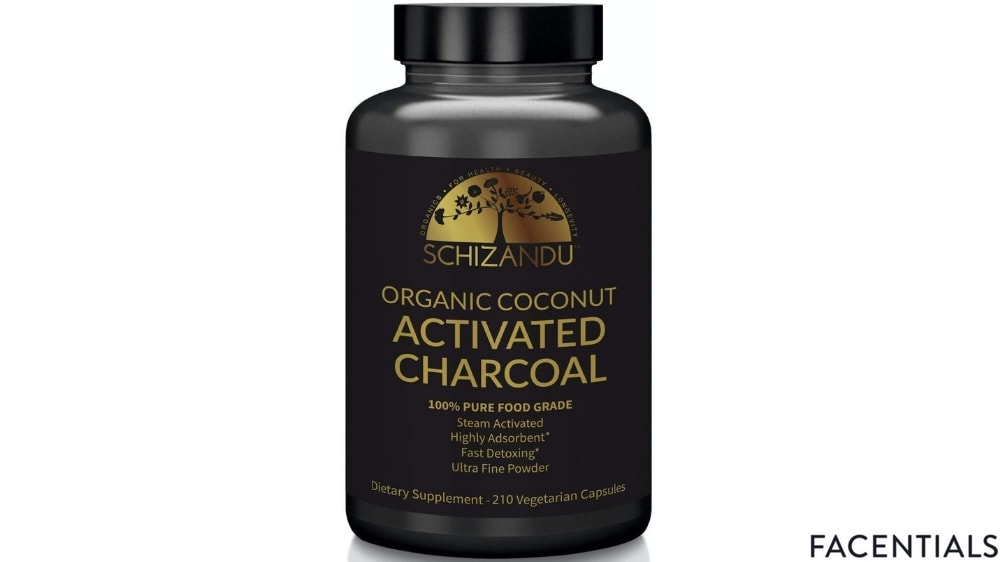 schizandu organic coconut activated charcoal front product photo