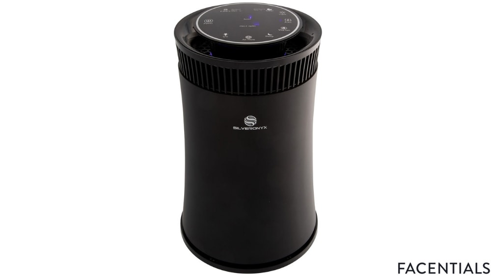 silveronyx air purifier with true hepa carbon filter front product photo