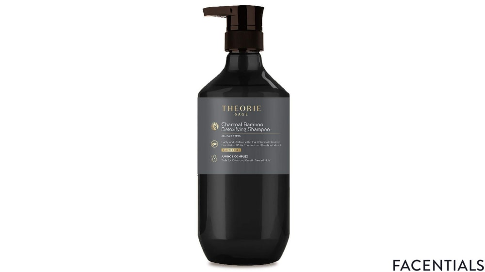 theorie charcoal bamboo detoxifying shampoo front product photo