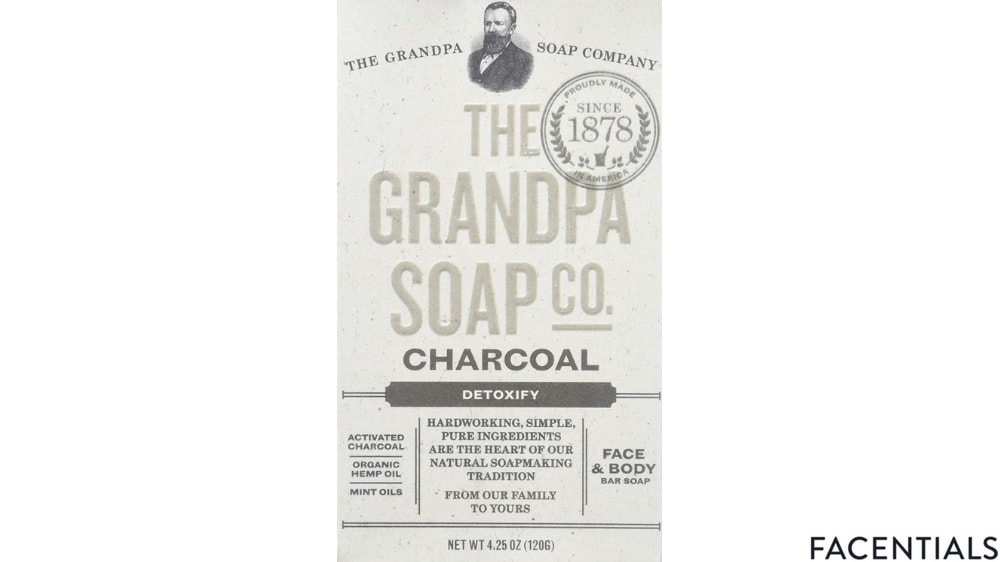 grandpas activated charcoal soap-bar detoxify for face and body product photo