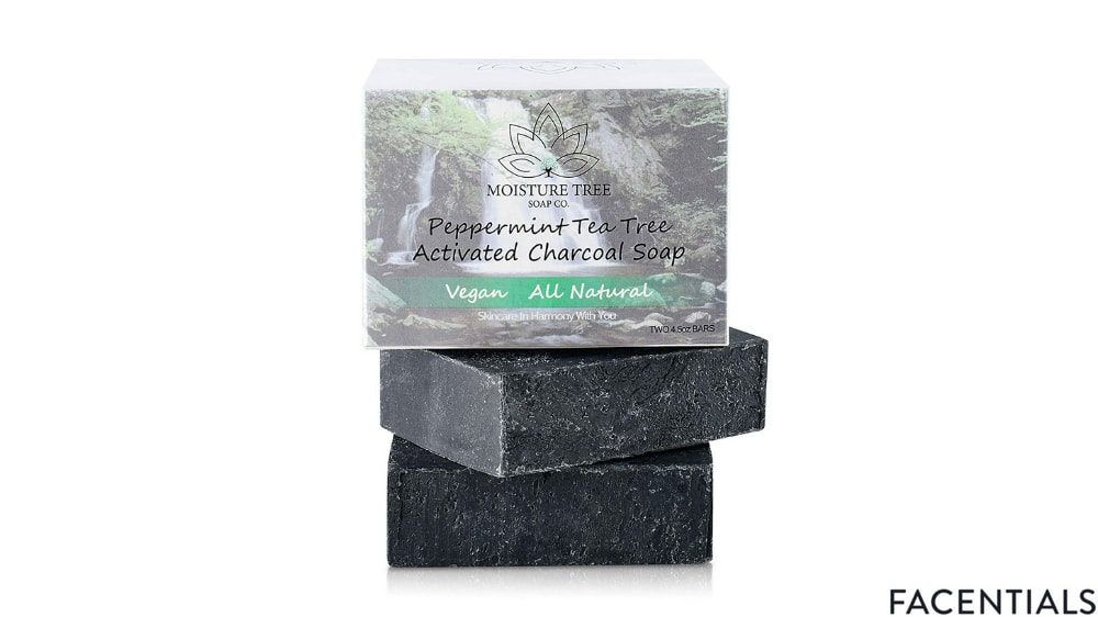 moisture tree peppermint activated charcoal soap bar product photo