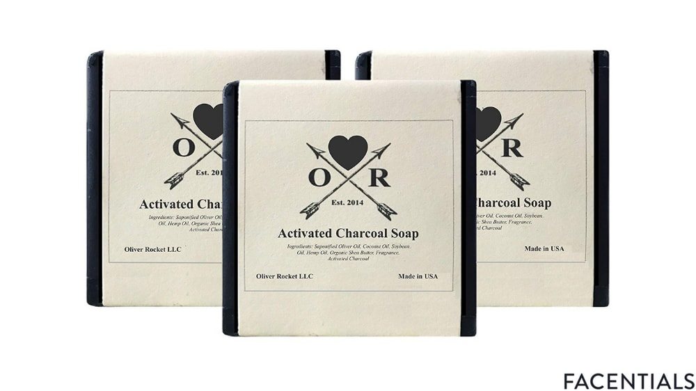 oliver rocket activated charcoal natural soap handcrafted face body soap product photo