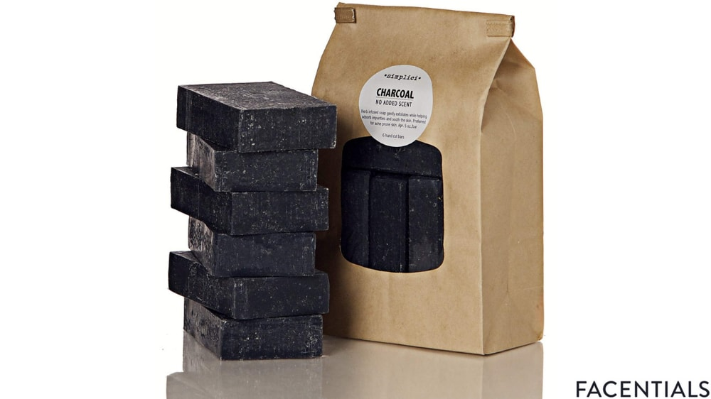 simplici activated charcoal unscented bar soap product photo