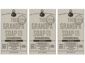 charcoal-bar-soap-the-grandpa-soap-co.jpg product photo